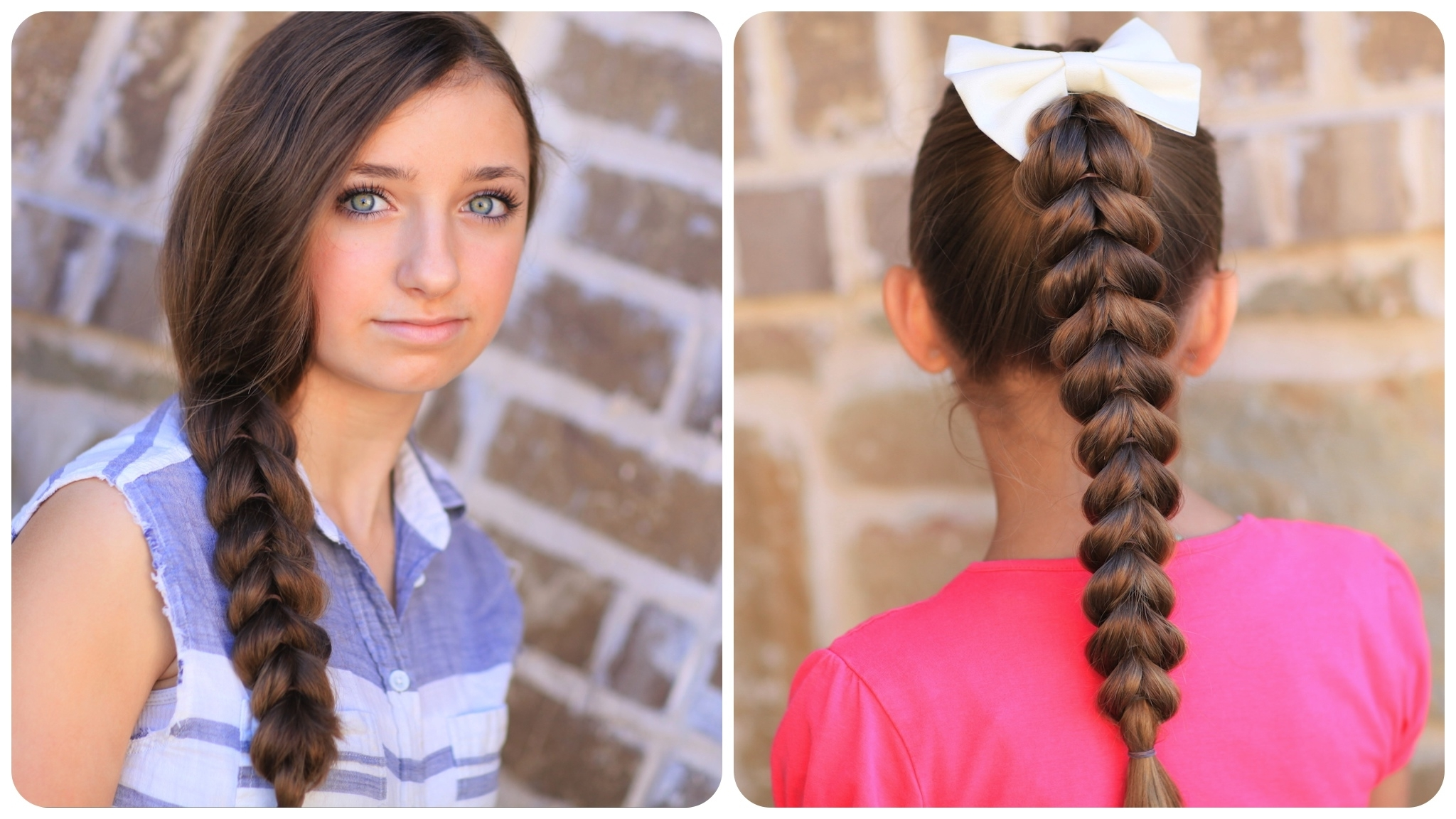 Most Recent Reverse Braid And Side Ponytail Hairstyles Intended For Pull Through Braid (View 12 of 20)