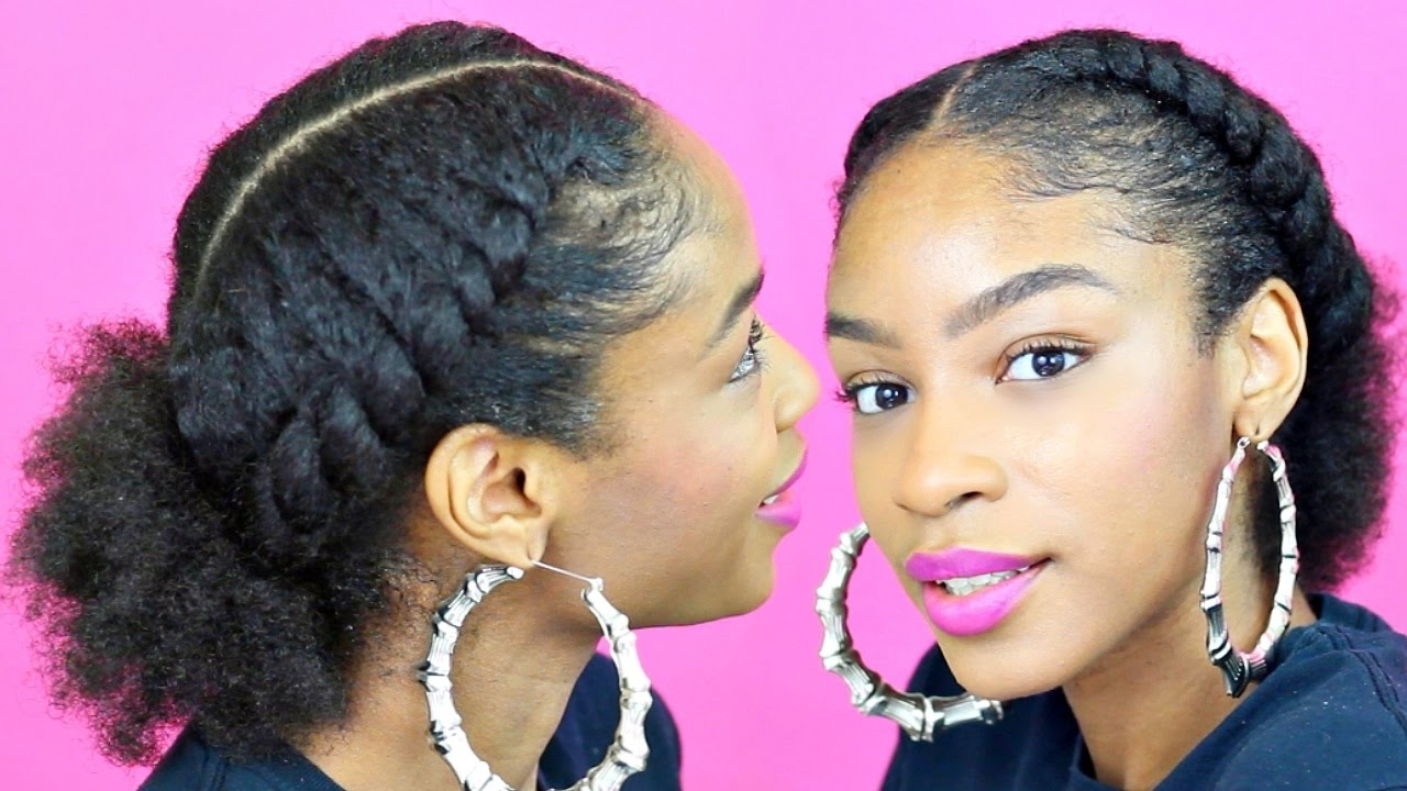Most Recent Twisted Front Curly Side Ponytail Hairstyles Throughout Flat Twist Ponytail On Natural Hair▻ Natural Hairstyles – Youtube (View 13 of 20)