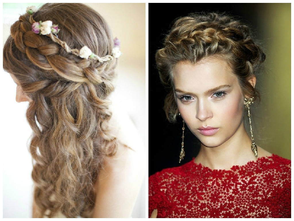 Most Recent Wavy Side Ponytails With A Crown Braid With Regard To The Best Crown Braid Hairstyle Ideas – Hair World Magazine (View 11 of 20)