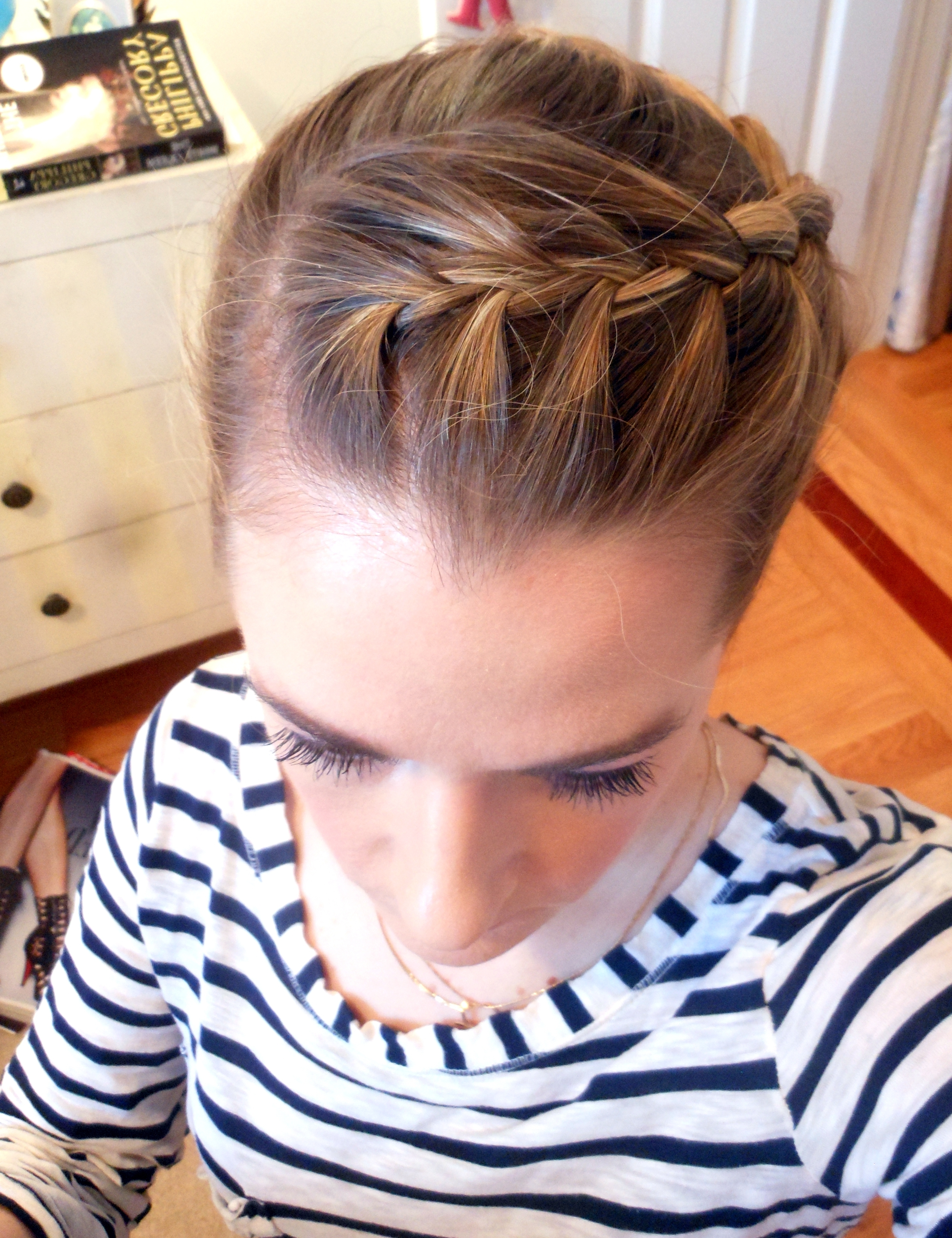 Most Recently Released Braided Crown Pony Hairstyles Regarding Hairstyle From Three Angles: Crown Braid Ponytail (View 15 of 20)