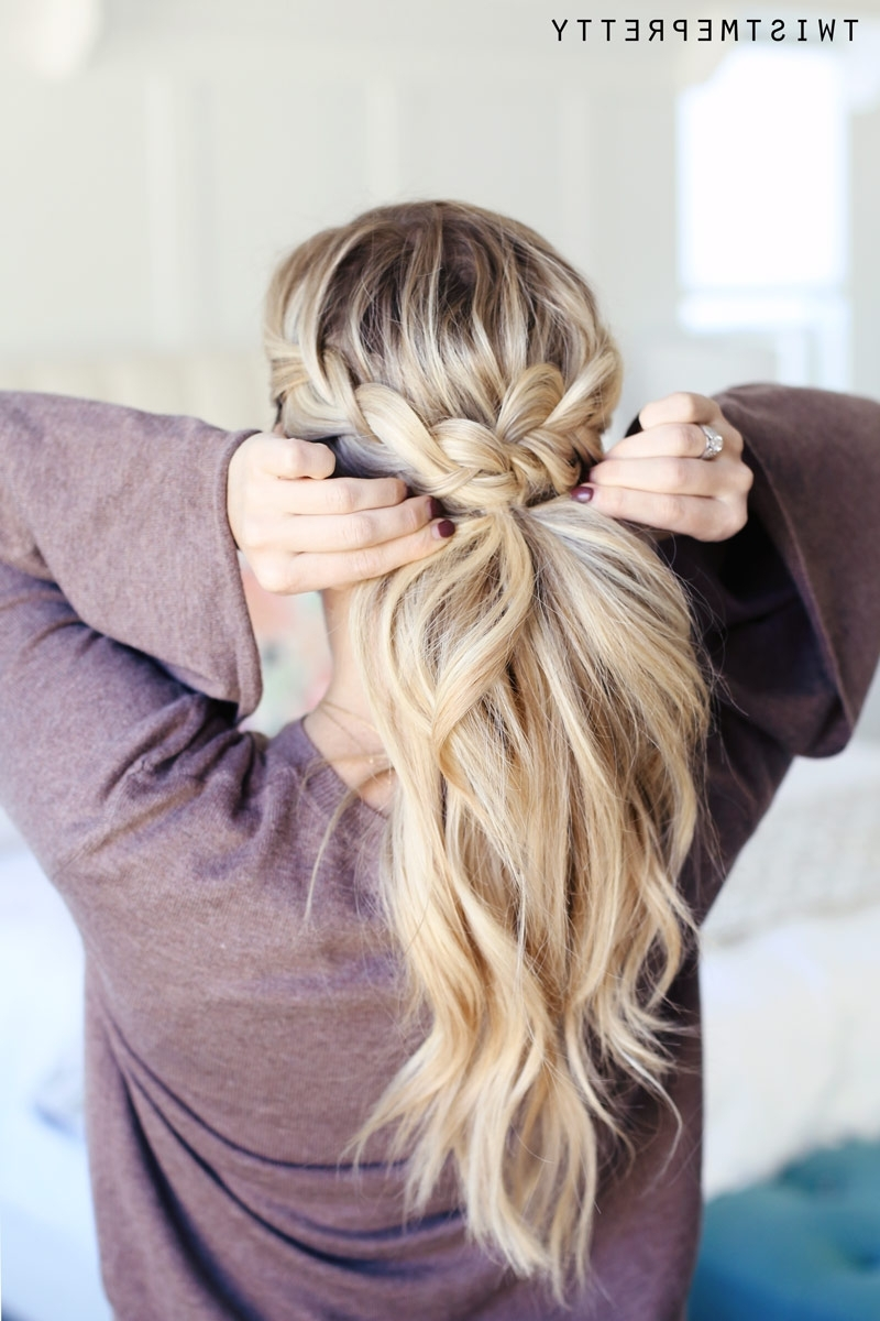 Most Recently Released Braided Crown Pony Hairstyles With Regard To How To Do A Crown Braid (2 Ways) – Twist Me Pretty (View 16 of 20)
