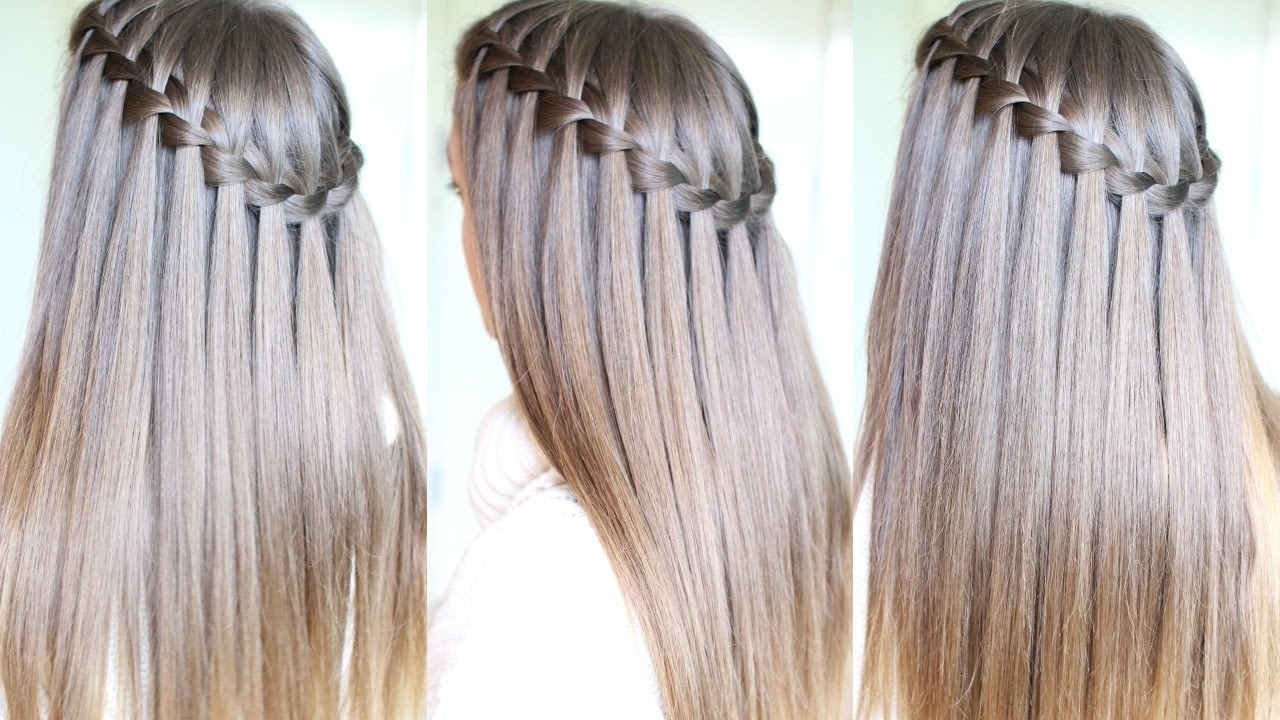 Most Recently Released Cascading Braided Ponytails Regarding Waterfall Braid Tutorial For Beginners (View 15 of 20)
