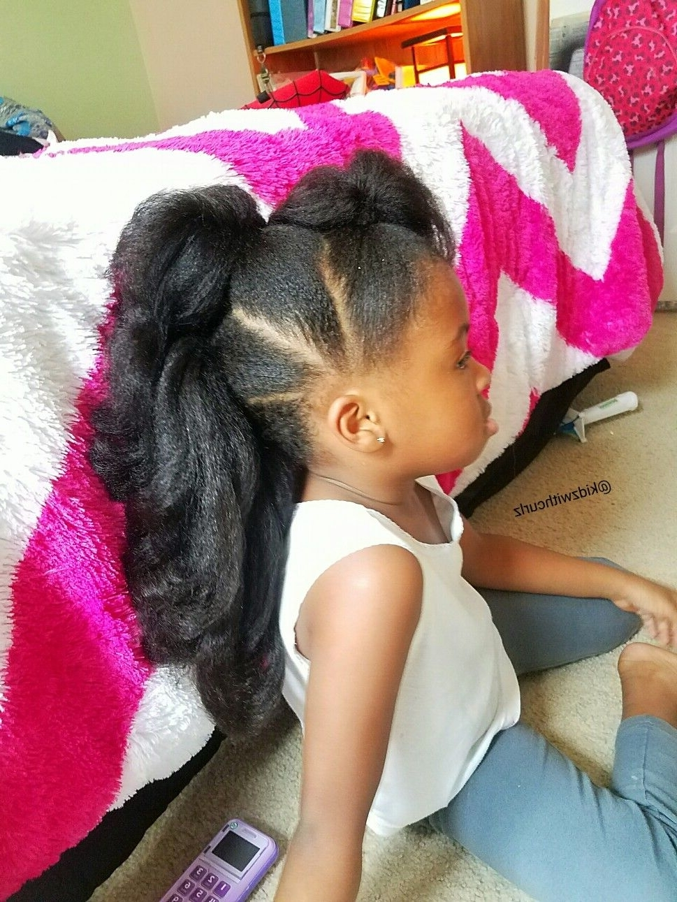 Most Recently Released Faux Hawk Ponytail Hairstyles Throughout Long Faux Hawk Ponytails. Kid Natural Hair Style (View 13 of 20)