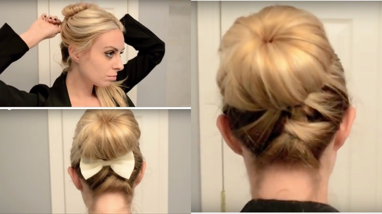 Most Recently Released Regal Braided Up Do Ponytail Hairstyles Within Cute & Quick Updo For Work/school! (View 10 of 20)