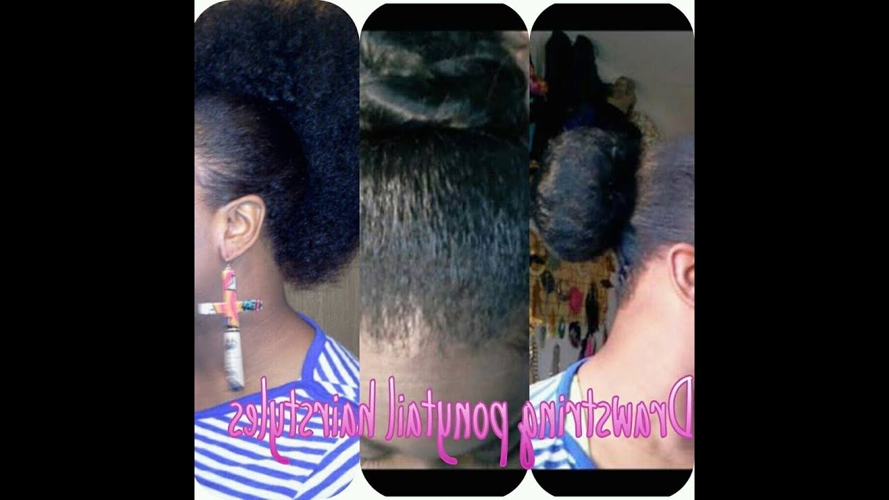 Most Recently Released Sculpted And Constructed Black Ponytail Hairstyles In 4 Different Hairstyles Using Drawstring Ponytail – Youtube (View 4 of 20)