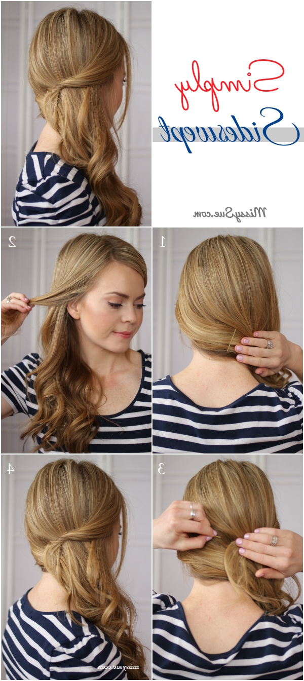 Most Up To Date Fancy Updo With A Side Ponytails Regarding Easy Side Swept Waves (View 12 of 20)