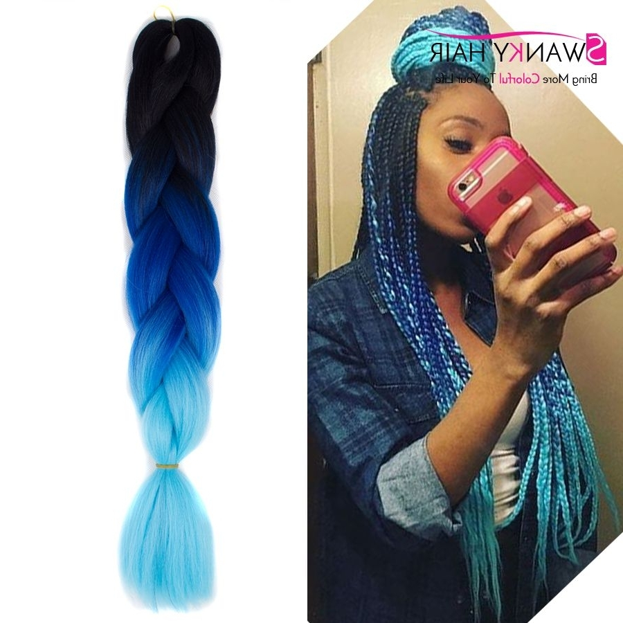 """Most Up To Date Multicolored Jumbo Braid Ponytail Hairstyles With Aliexpress : Buy 24"""" 100G Multi Colored Hair Extensions (View 10 of 20)"""