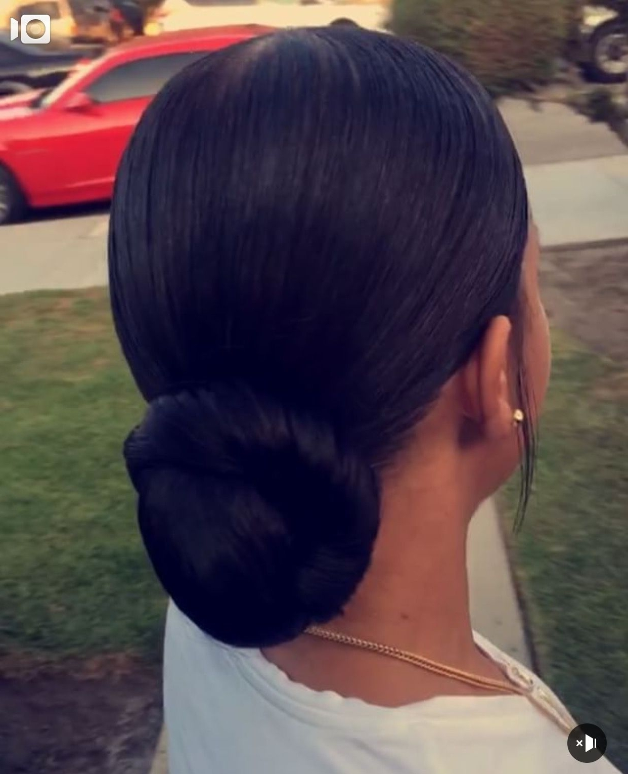 Most Up To Date Twisted Retro Ponytail Updo Hairstyles Pertaining To Slicked Ponytail With Bun. Ponytail With Extension (View 8 of 20)