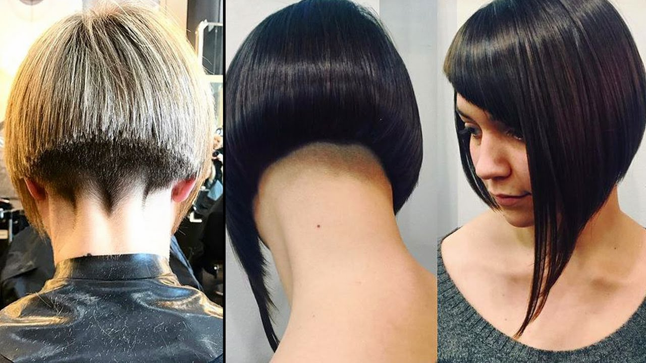 Top Style 49+ Girl Haircut Shaved Nape