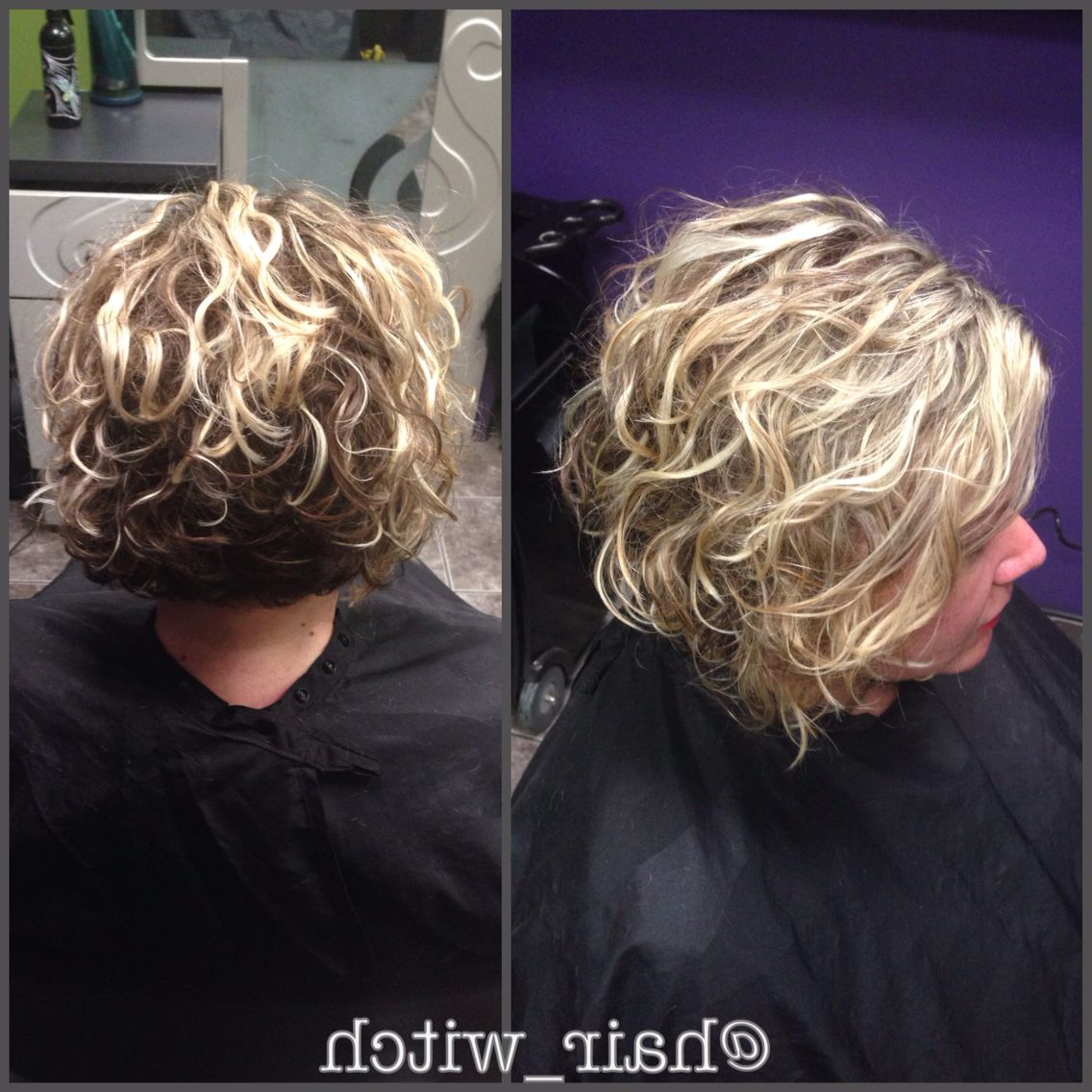 Natural Curly Short Inverted Blonde Bob, Styled With Devacurl With Nape Length Blonde Curly Bob Hairstyles (View 18 of 20)