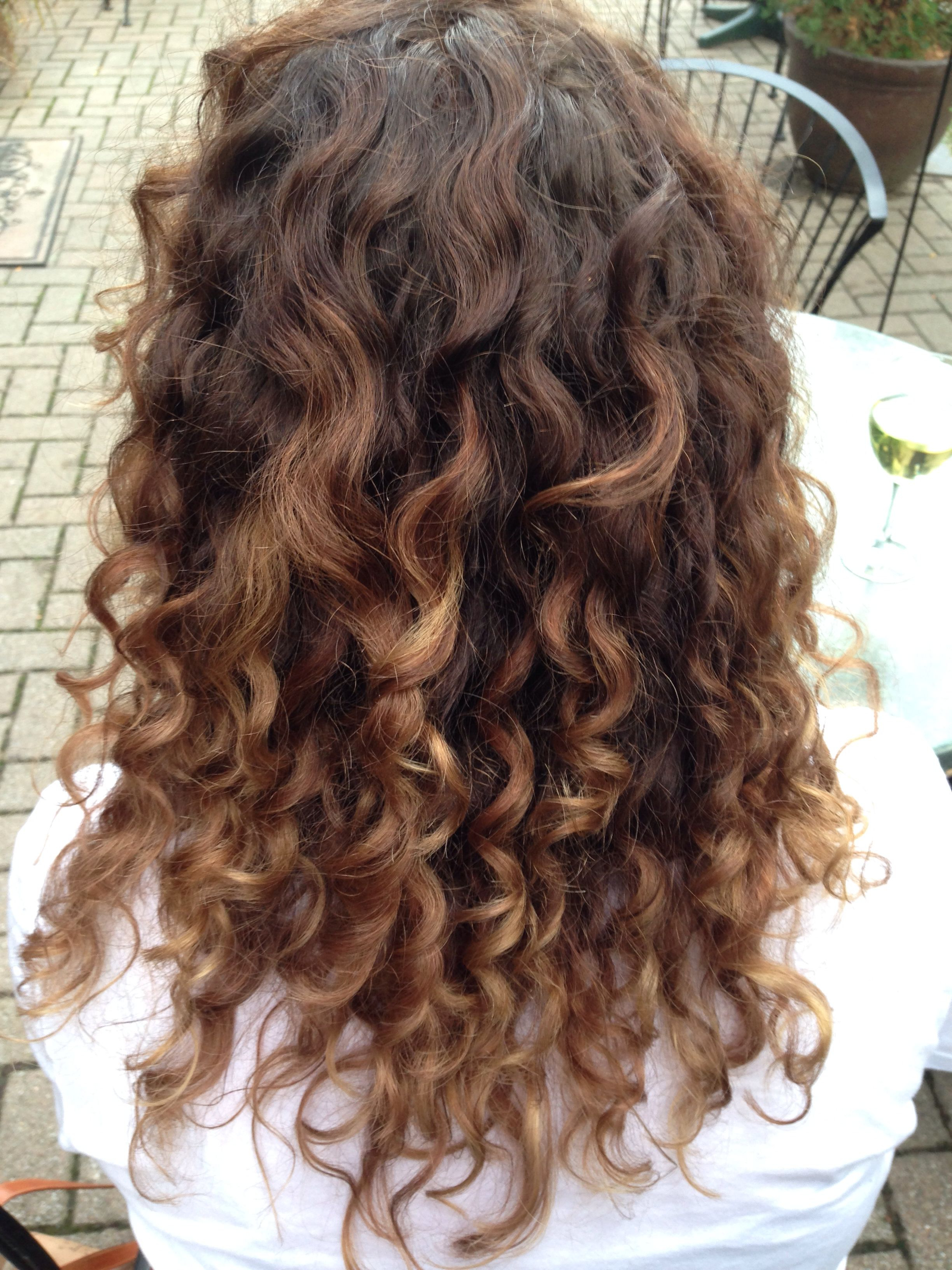 Naturally Curly Hair Carmel Ombréthe Best In The Business In Brown Curly Hairstyles With Highlights (View 16 of 20)