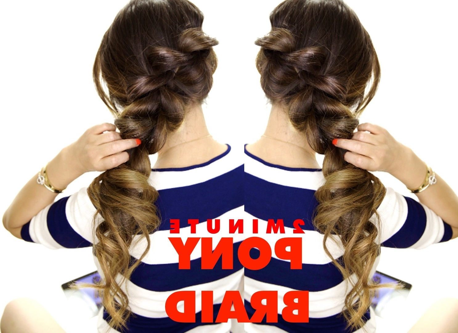 Newest 2 Minute Side Pony Hairstyles Within 2 Minute Fancy Ponytail Braid (View 16 of 20)