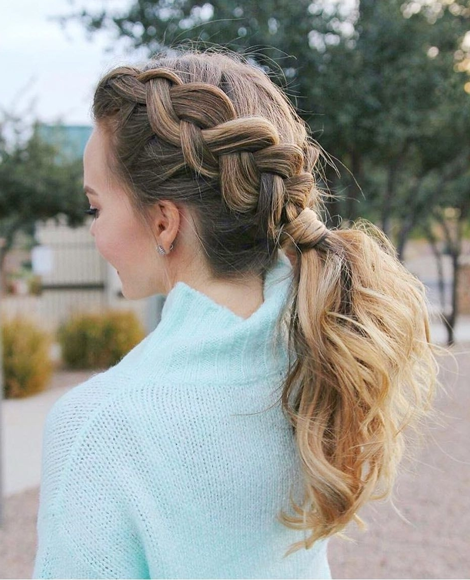 Newest Pony And Dutch Braid Combo Hairstyles Pertaining To 3,163 Likes, 19 Comments – Luxy Hair (@luxyhair) On Instagram (View 15 of 20)