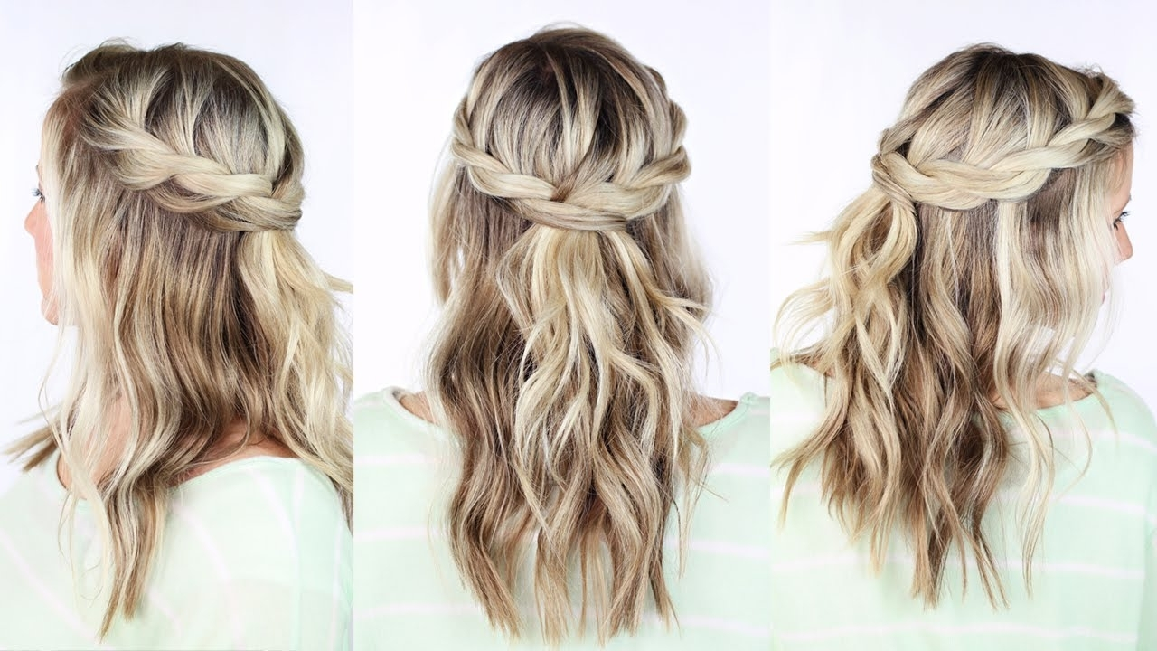 Newest Wavy Side Ponytails With A Crown Braid Within Twisted Crown Braid – Youtube (View 13 of 20)