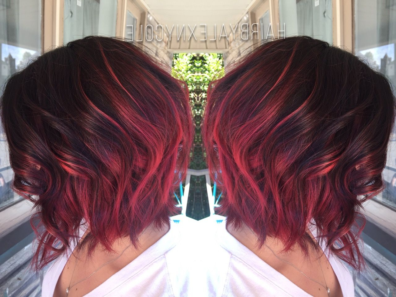 Pinadriana Mckenzi On Short Hairstyles In 2018 | Pinterest Pertaining To Stacked Black Bobhairstyles With Cherry Balayage (View 7 of 20)