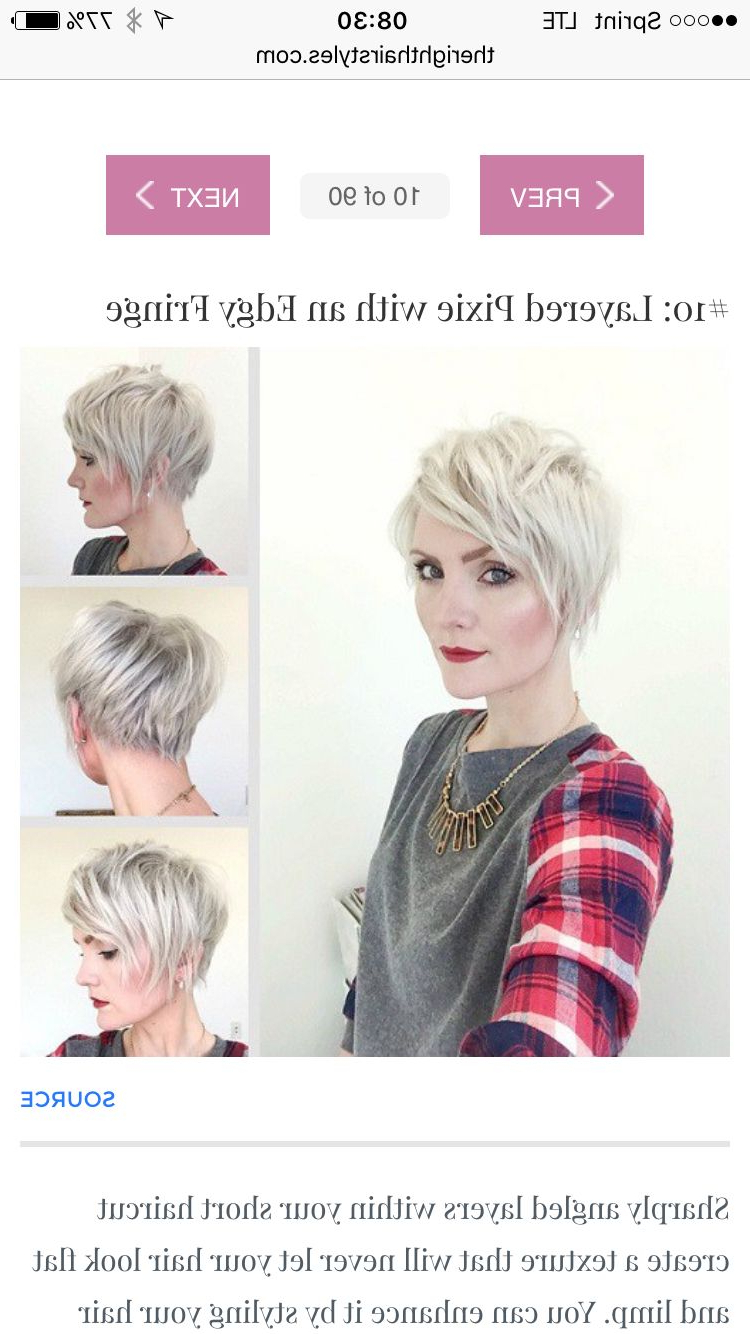 Pinbecky Riddle On Hair And Makeup | Pinterest | Makeup Regarding Layered Pixie Hairstyles With An Edgy Fringe (View 19 of 20)