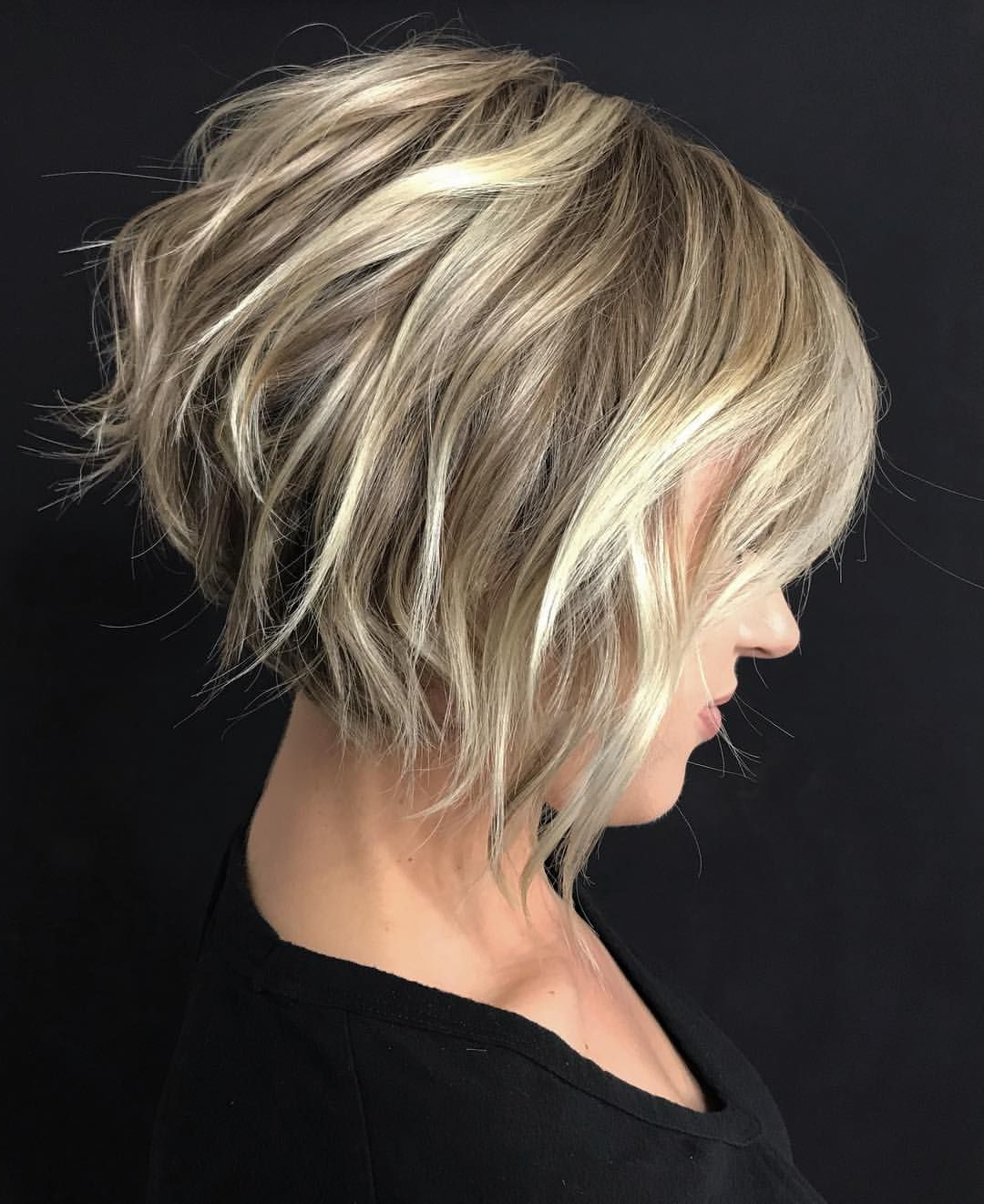 Pinmadison Henry On Gorgeousness! | Pinterest | Short Hair Cuts Inside Dynamic Tousled Blonde Bob Hairstyles With Dark Underlayer (View 19 of 20)