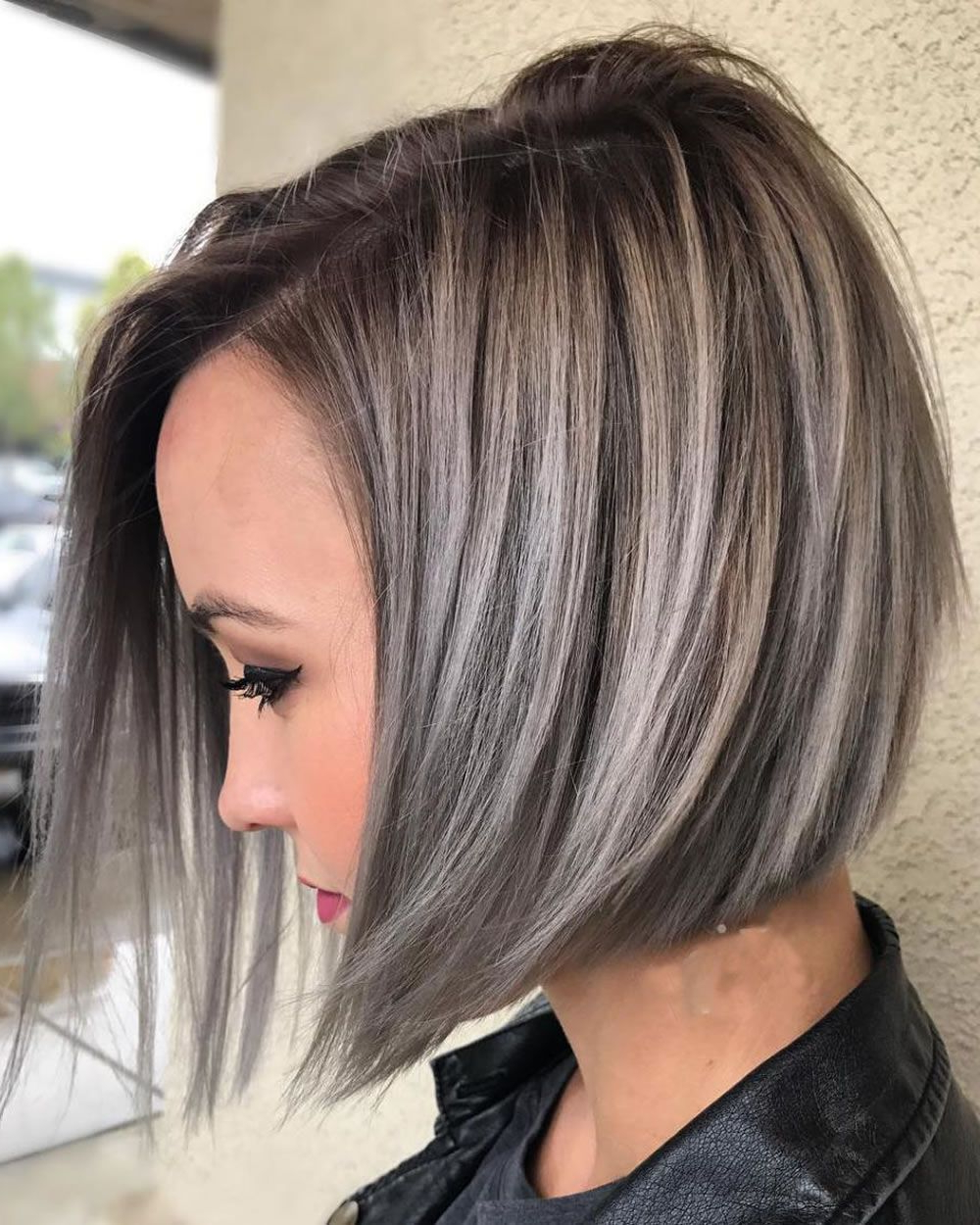 Pinstephanie Joseph On Hair | Pinterest | Hair, Hair Styles And Intended For Silver Balayage Bob Haircuts With Swoopy Layers (View 7 of 20)