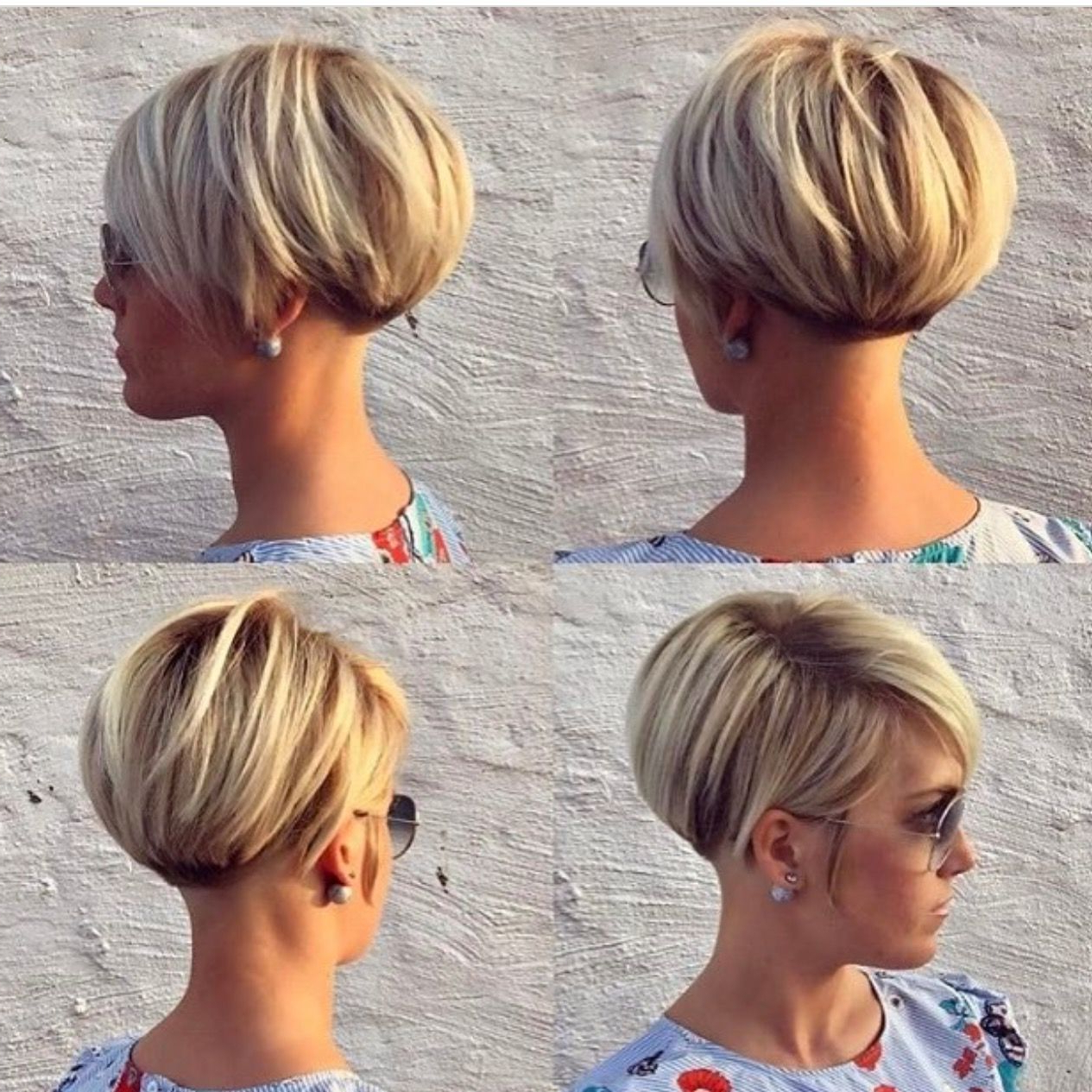 Pinsvetlana Marchuk On Haircuts In 2018 | Pinterest | Short Hair Within Side Parted White Blonde Pixie Bob Haircuts (View 10 of 20)