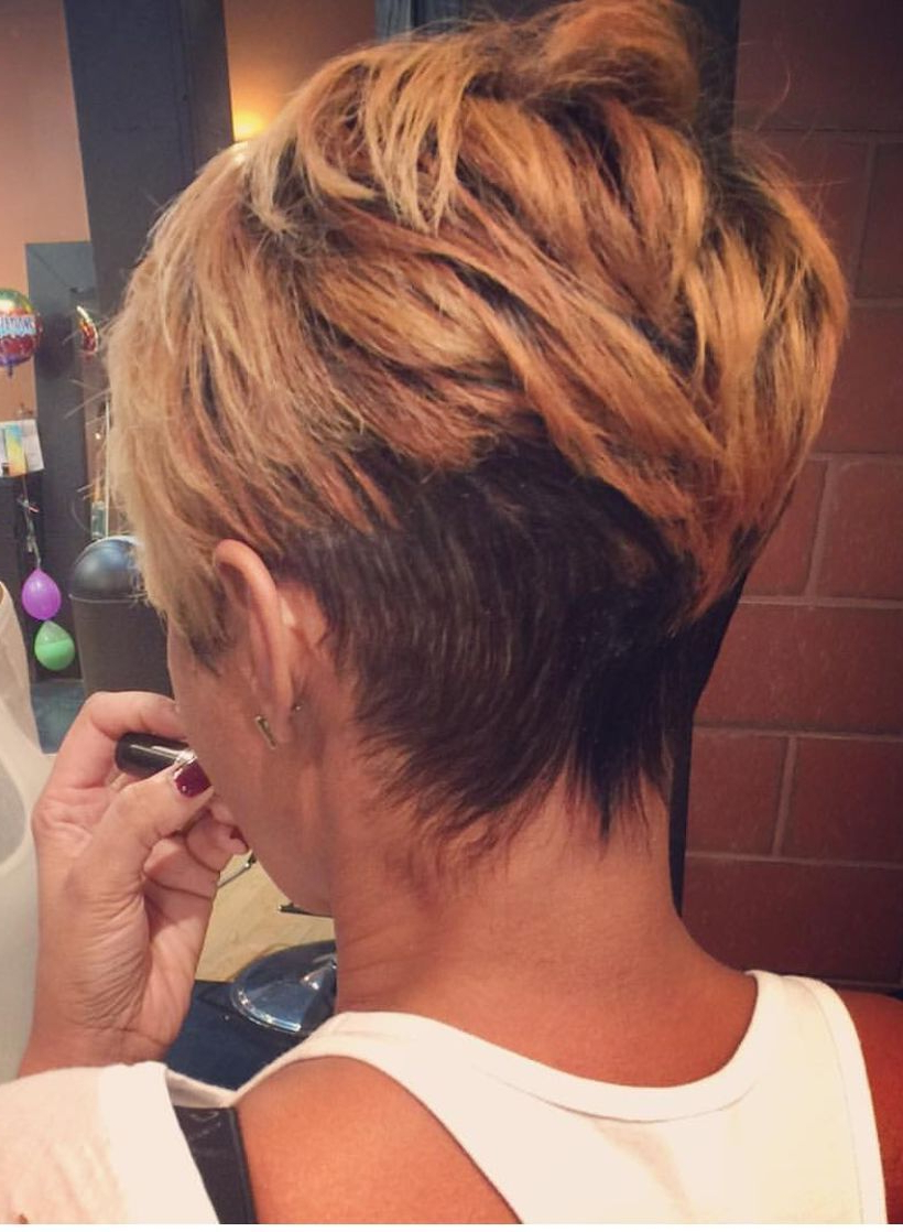 """Pintammie Collins On """"androgynous"""" Or Not! – Hairstyles In 2018 Inside Bronde Balayage Pixie Haircuts With V Cut Nape (View 13 of 20)"""