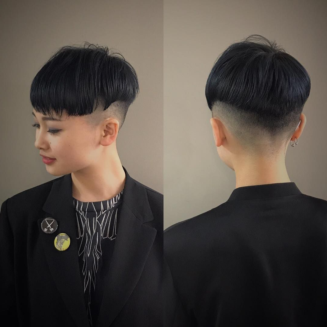 Pintavi David On Bowl Cut In 2018 | Pinterest | Short Hair For Tapered Bowl Cut Hairstyles (View 5 of 20)