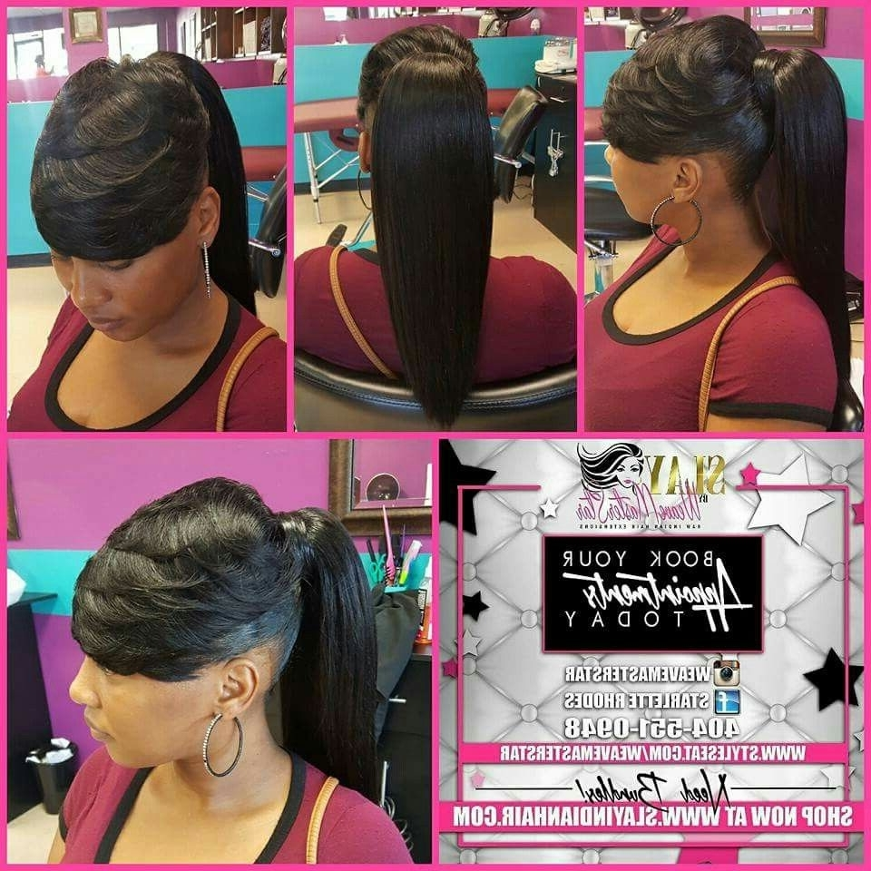 Pinterest In Well Liked Sculpted And Constructed Black Ponytail Hairstyles (View 5 of 20)