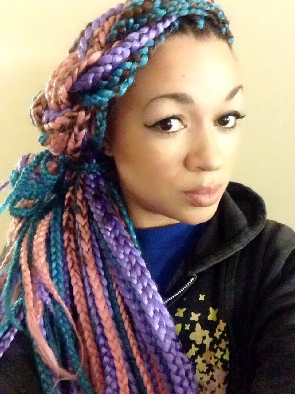 Pinterest With Regard To Most Recently Released Multicolored Jumbo Braid Ponytail Hairstyles (View 12 of 20)