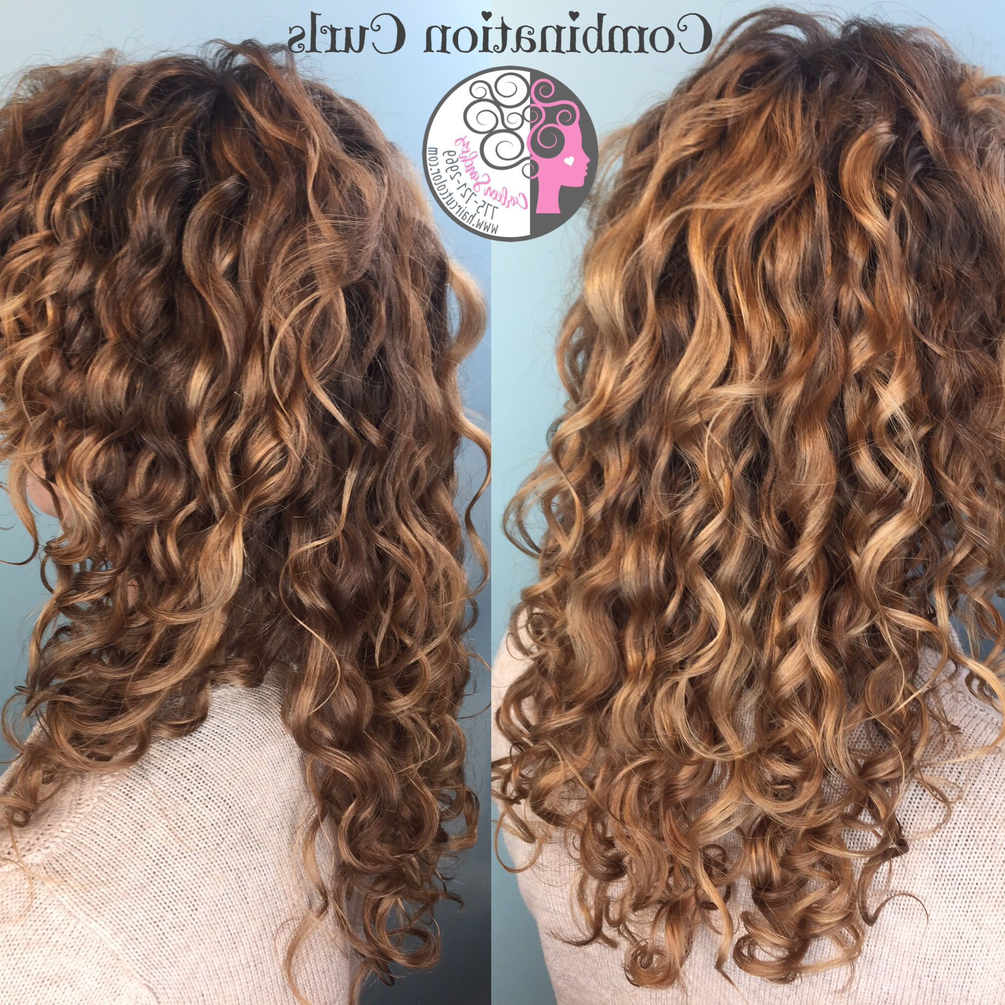 Pintura And Balayage Highlights And Custom Naturally Curly Cut With Regard To Golden Brown Thick Curly Bob Hairstyles (View 20 of 20)