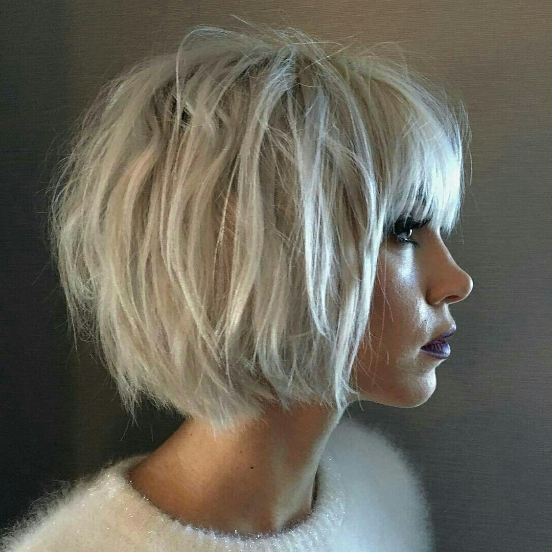Pinvictoria Emery On My Everchanging Hairstyles | Pinterest In Asymmetrical Unicorn Bob Haircuts (View 18 of 20)