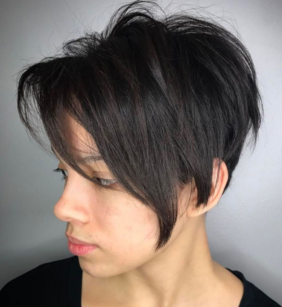 Pixie Haircuts For Thick Hair – 50 Ideas Of Ideal Short Haircuts In Layered Pixie Hairstyles With Nape Undercut (View 5 of 20)