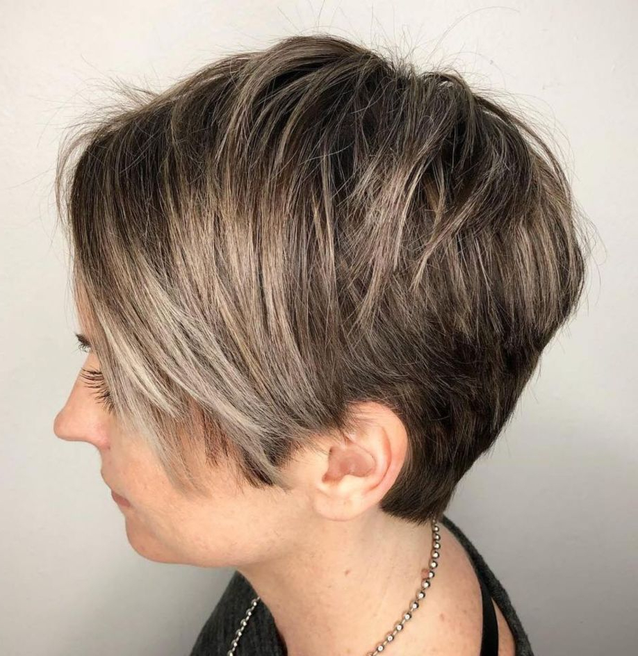 Pixie Haircuts For Thick Hair – 50 Ideas Of Ideal Short Haircuts In With Regard To Bronde Balayage Pixie Haircuts With V Cut Nape (View 6 of 20)