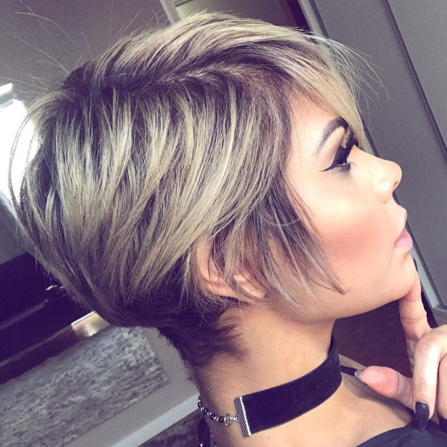Pixie Haircuts For Thick Hair – 50 Ideas Of Ideal Short Haircuts In With Regard To Long Blonde Pixie Haircuts With Root Fade (View 14 of 20)