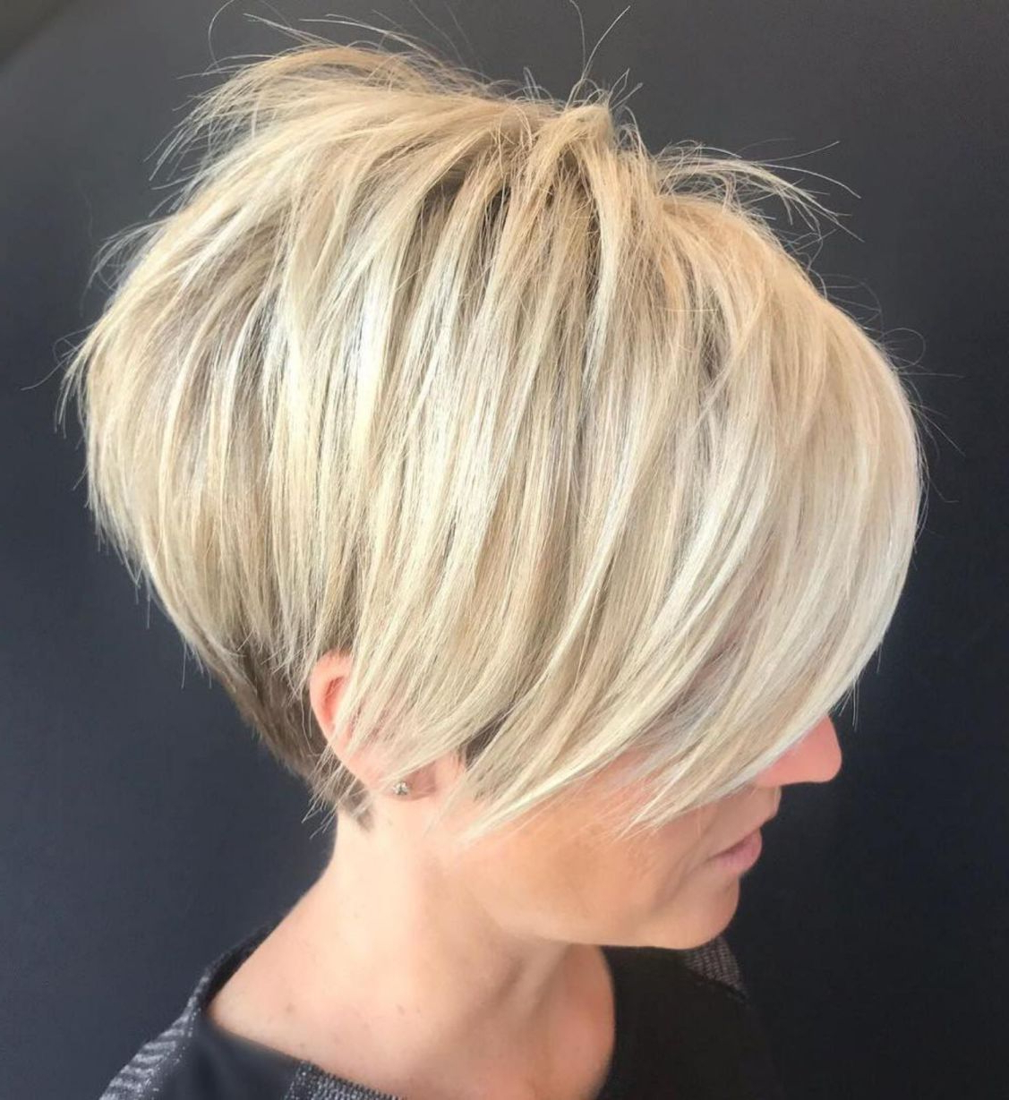 Pixie Haircuts With Bangs – 50 Terrific Tapers In 2018 | Hair Within Sunny Blonde Finely Chopped Pixie Haircuts (View 19 of 20)