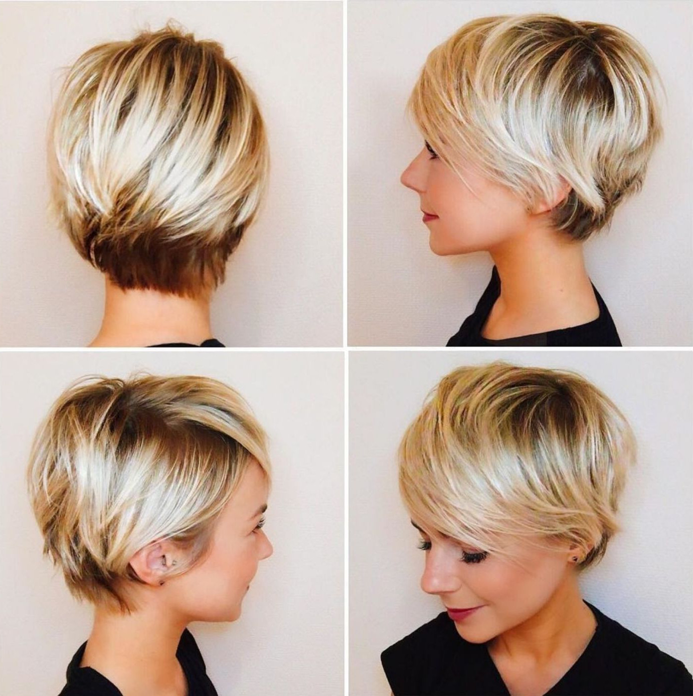 Pixie Haircuts With Bangs – 50 Terrific Tapers In 2018 | Short Hair With Regard To Bronde Balayage Pixie Haircuts With V Cut Nape (View 3 of 20)