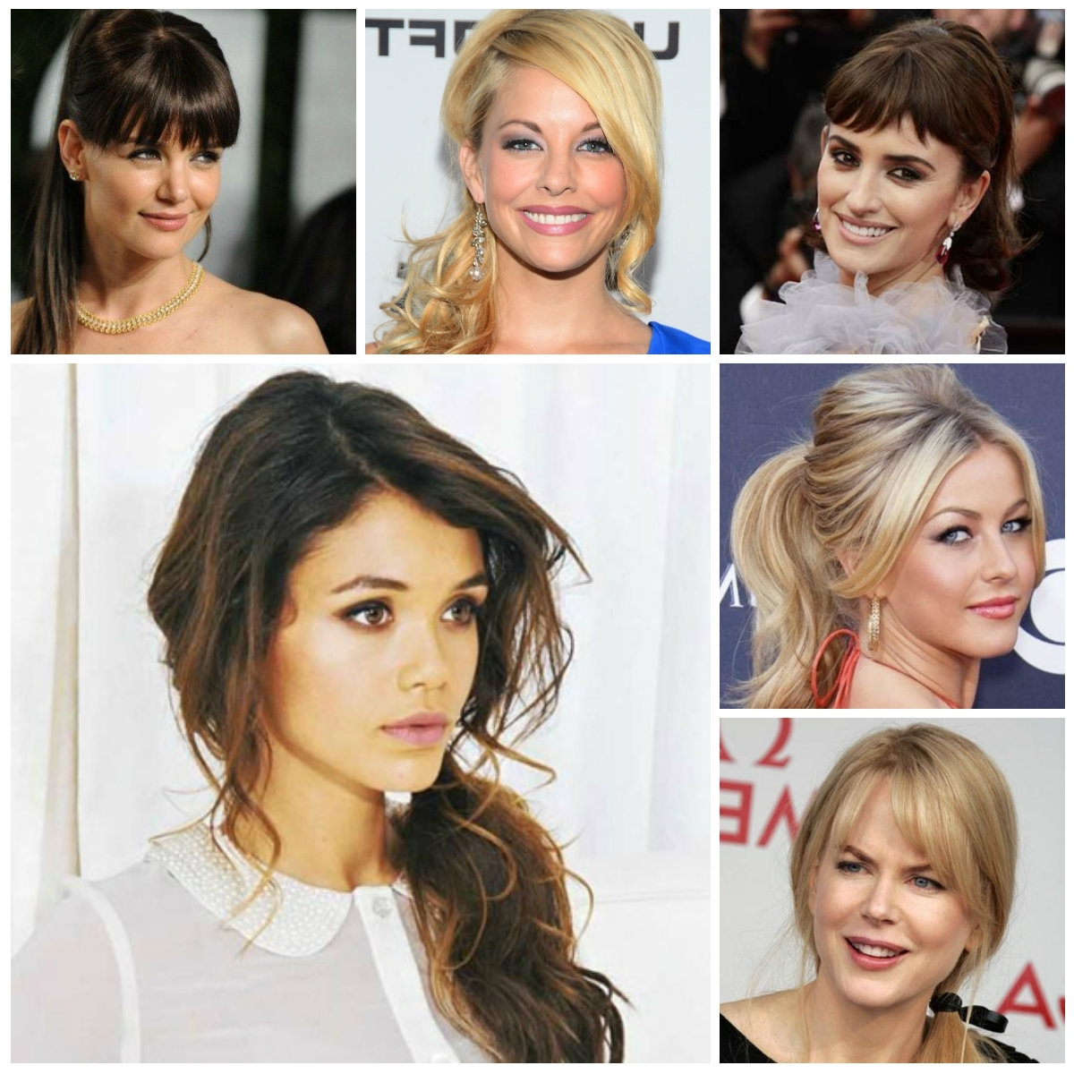 Ponytail Hairstyles With Bangs (View 16 of 20)