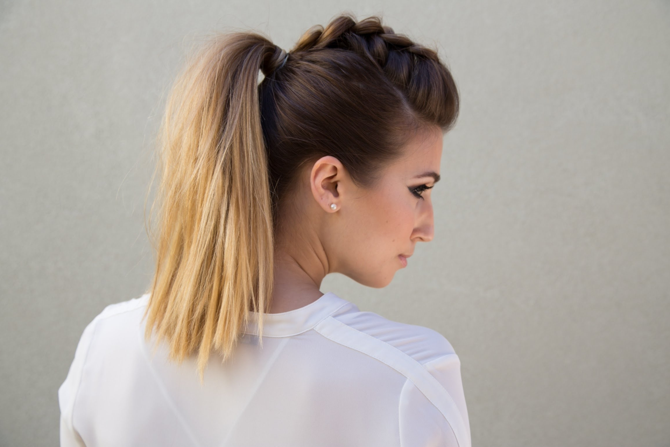 Popular Faux Hawk Ponytail Hairstyles Pertaining To Dutch Braid Faux Hawk Pony – Youtube (View 9 of 20)