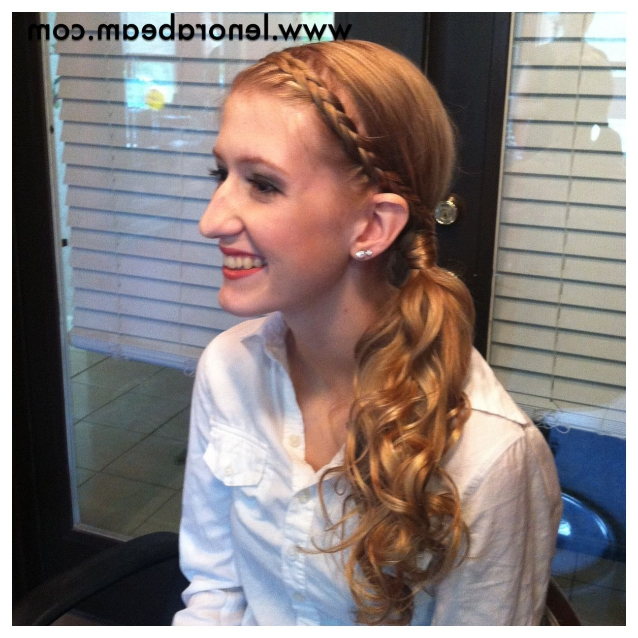 Popular Flowy Side Braid Ponytail Hairstyles Within Fabulous Prom Hair (View 13 of 20)