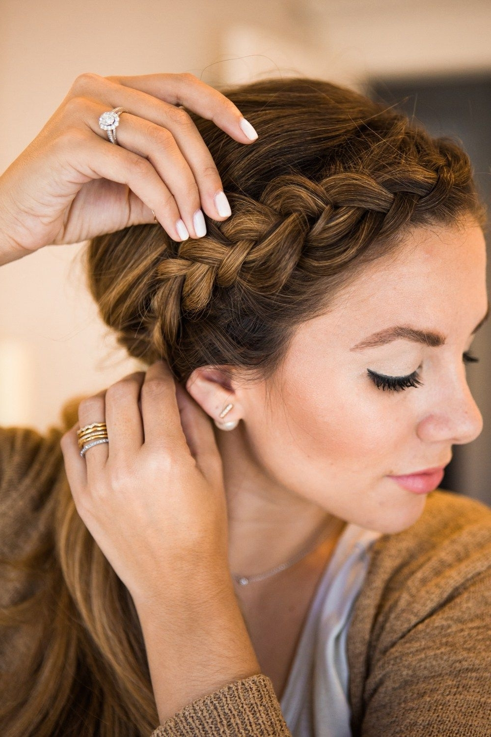 Popular Long Ponytails With Side Braid Regarding Dutch Braid Ponytail Tutorial + Giveaway (View 16 of 20)