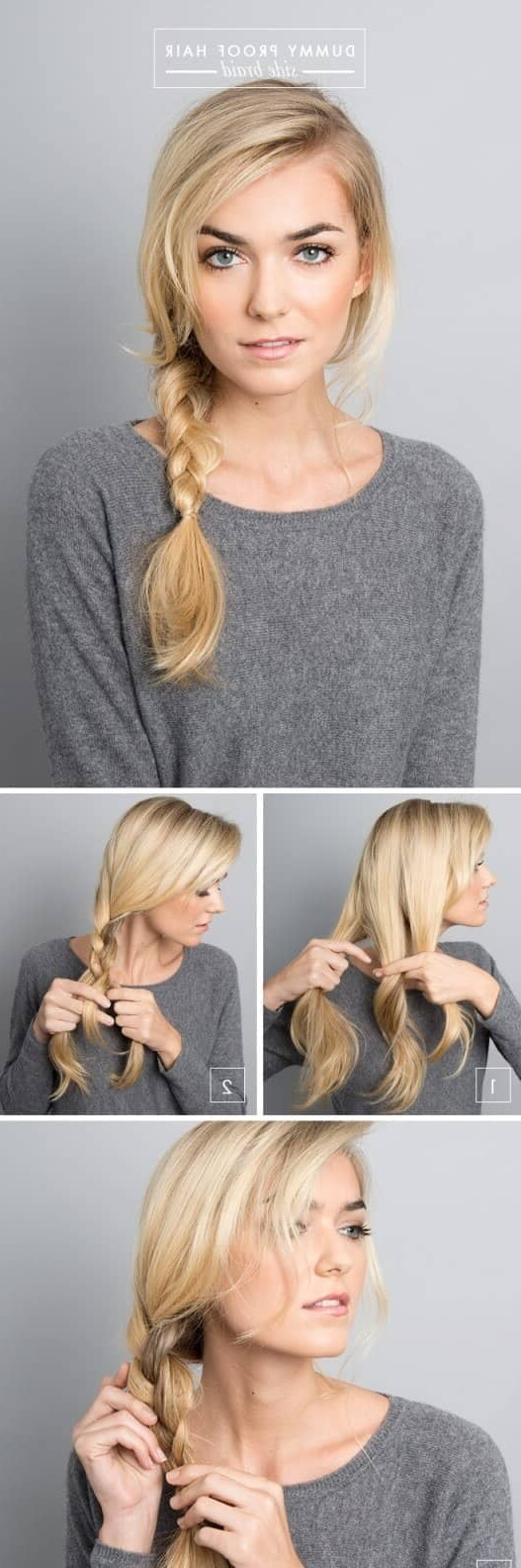 Popular Simple Messy Side Ponytail Hairstyles Inside 25 Effortless Side Braid Hairstyles To Make You Feel Special (View 5 of 20)