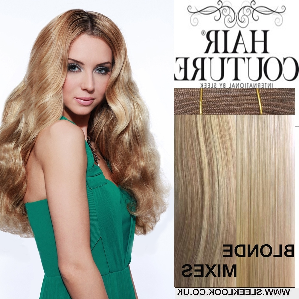 Popular Straight Triple Threat Ponytail Hairstyles For Sleek Hair Couture Remy Gold Triple Weft (View 14 of 20)