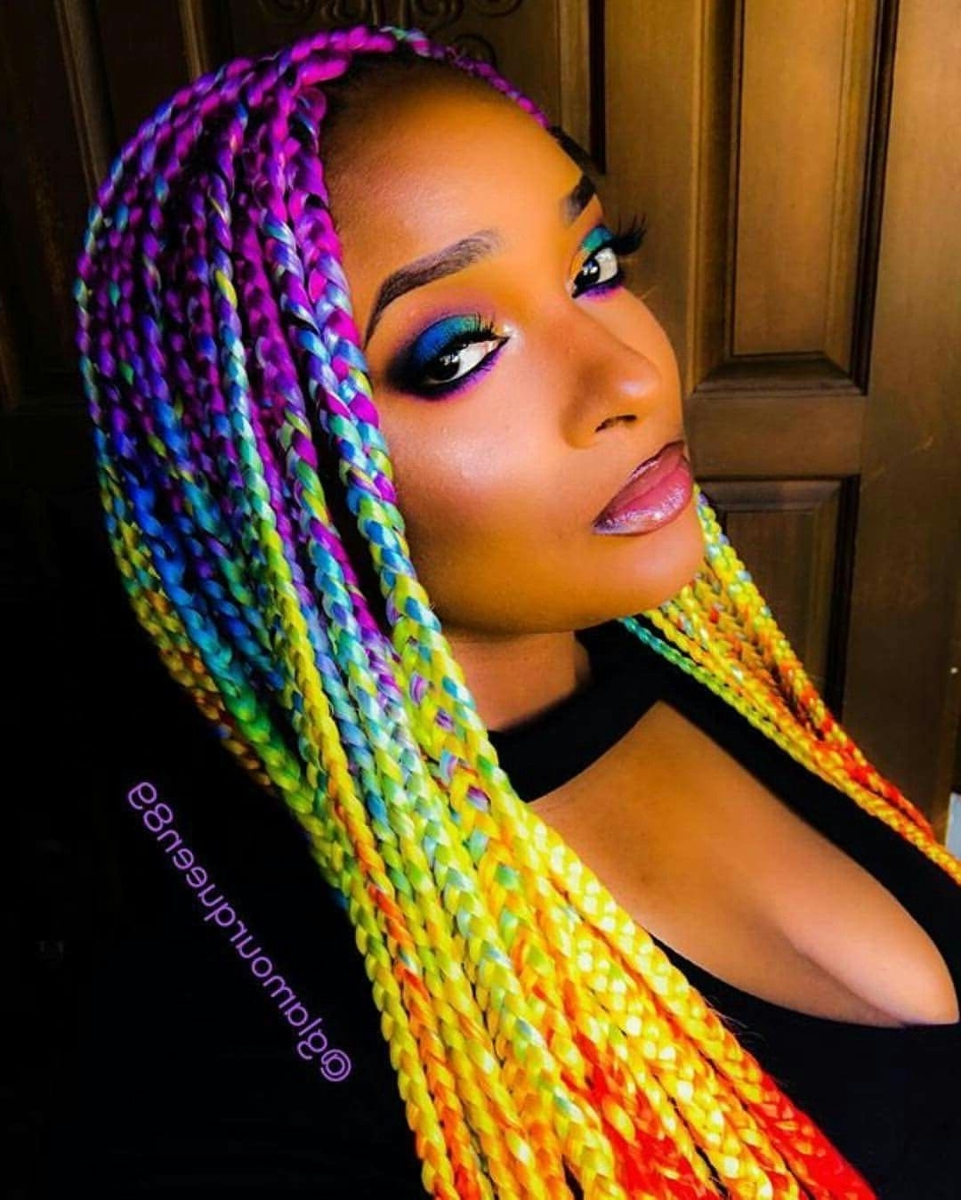 Preferred Multicolored Jumbo Braid Ponytail Hairstyles Inside 50 Absolutely Beautiful Feed In Braids Styles (View 13 of 20)