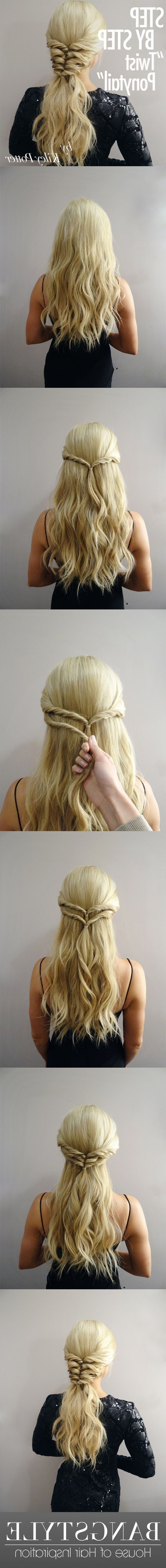 Preferred Tangled And Twisted Ponytail Hairstyles Within Can't Decide Between A Pony Tail And A Braid? Bring Both Together In (View 17 of 20)