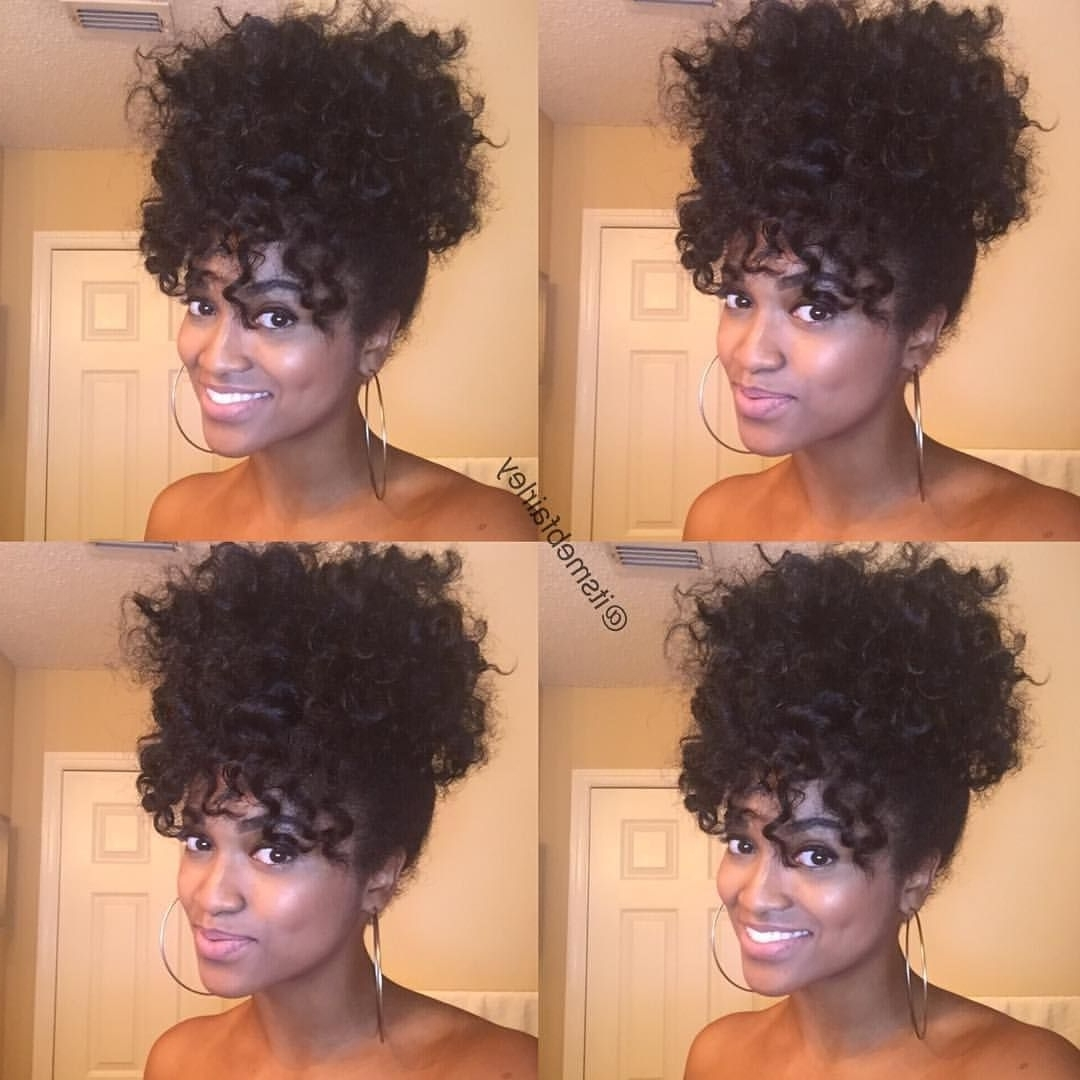 "Protective Natural Hair Styles On Instagram: ""By @itsmebfairley Within Latest Naturally Curly Ponytail Hairstyles (View 17 of 20)"