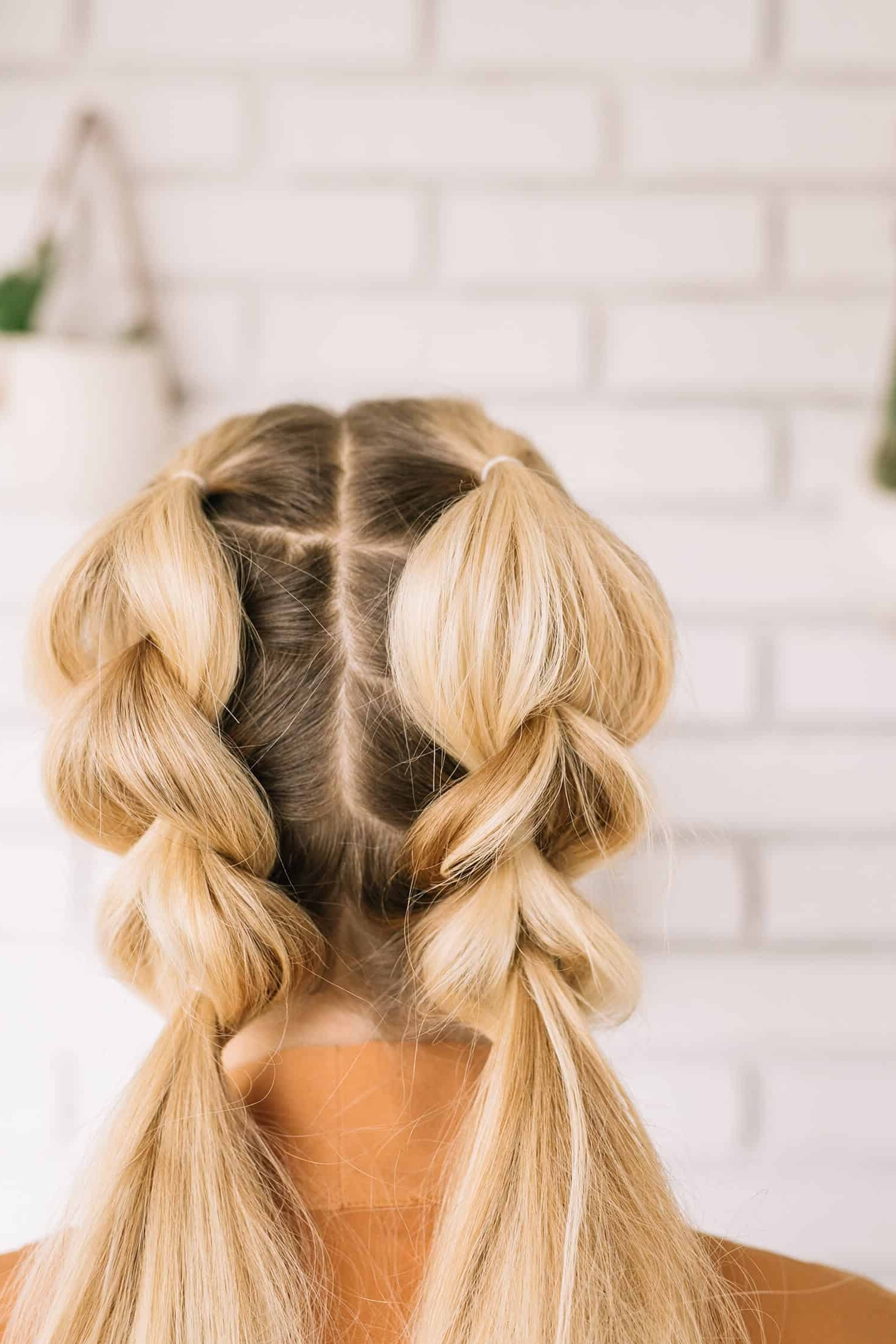 Pull Through Double Braid – A Beautiful Mess In Most Recently Released Blonde Ponytails With Double Braid (View 11 of 20)