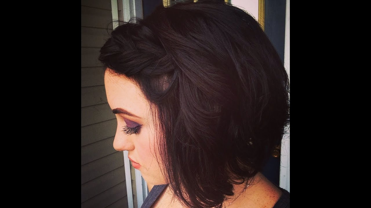 Quick Cute Style For Short Hair, Messy Braided Hairband With Curls Pertaining To Short Messy Curly Hairstyles (View 14 of 20)