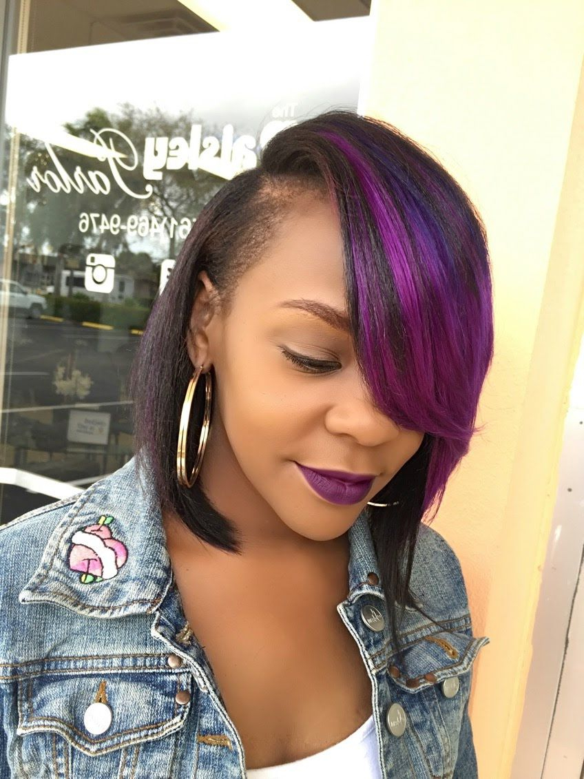 Quick Weave Bob. Deep Side Part | My Natural Hair, Loving It With Regard To Lavender Haircuts With Side Part (Gallery 2 of 20)