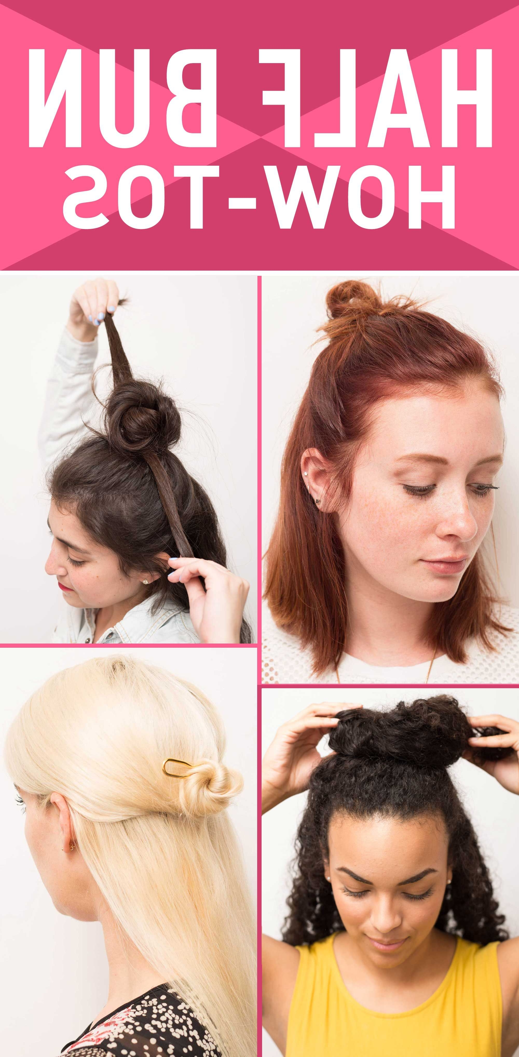 Recent Sleek Ladylike Ponytail Hairstyles Throughout Half Bun Hairstyles – How To Do A Half Bun Tutorials And Tips (View 18 of 20)