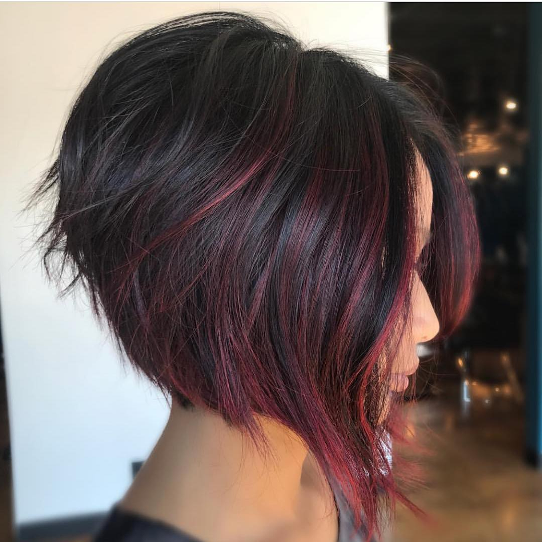Reverse Bob Haircuts Inverted Bob Haircuts And Hairstyles 2018 Throughout Angled Bob Hairstyles (Gallery 4 of 20)