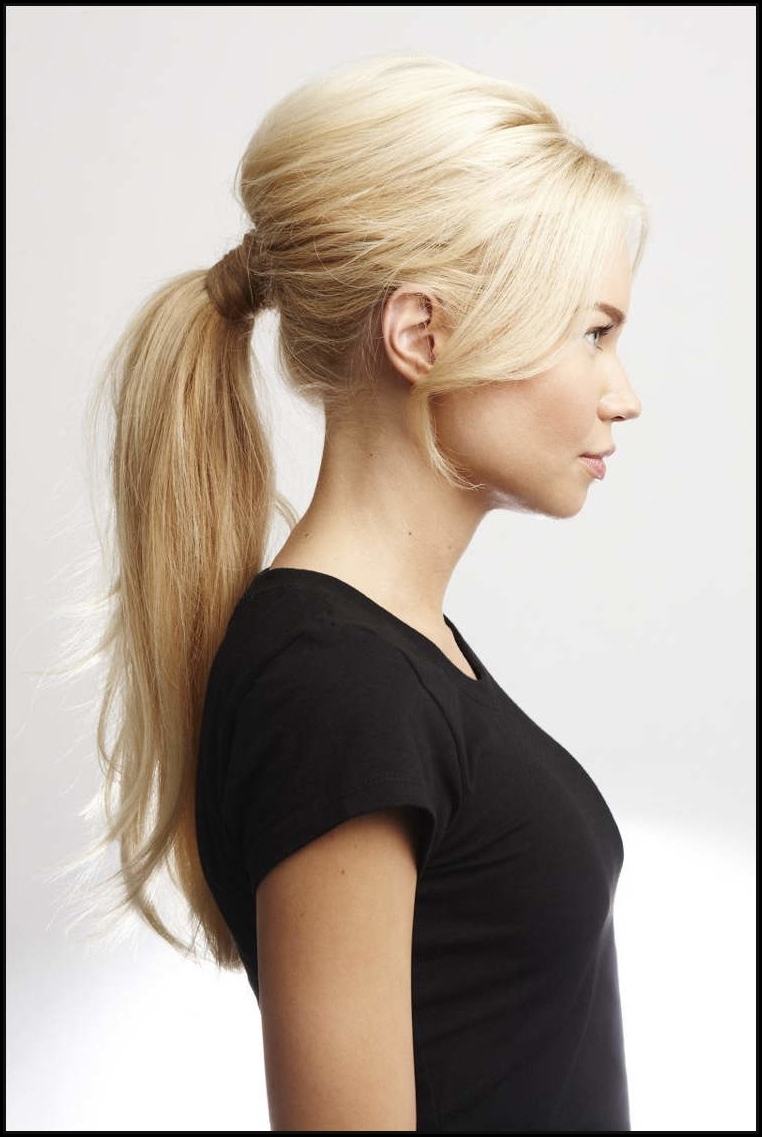 Romantic Ponytail Hairstyle, Changing The Rules Of The Game – Fashionre Inside Well Known Romantic Ponytail Hairstyles (View 14 of 20)