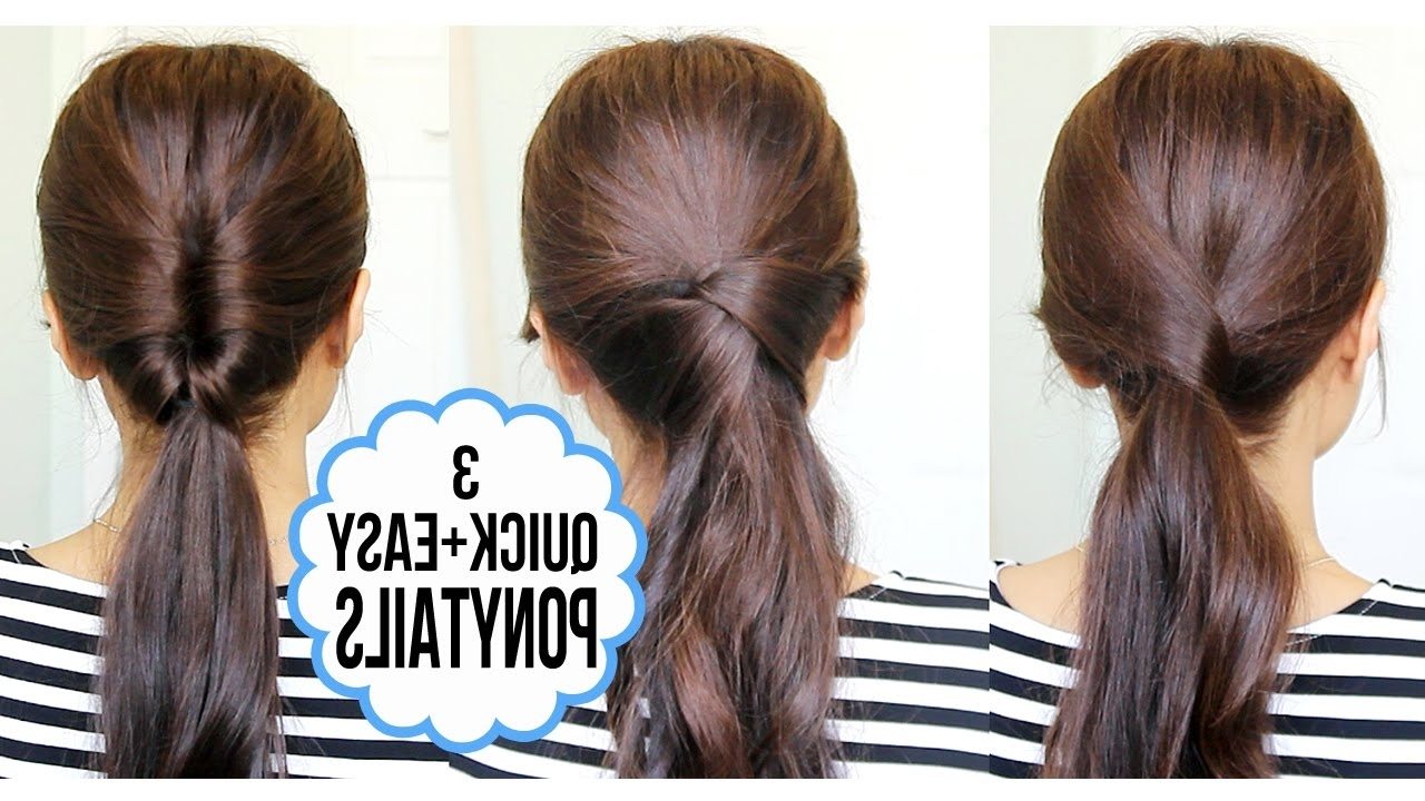 Running Late Ponytail Hairstyles (View 19 of 20)